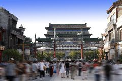 улица Пекин коммерчески Стоковые Изображения