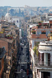 улица перспективы римская Стоковые Изображения RF