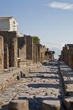 Улица Помпеи с камнями стоковое фото rf