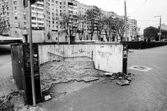 Улица после дождя в Chisinau столица республики Молдавии Архитектура и здания, бульвар Стефана большой Стоковые Фотографии RF