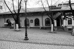 Улица после дождя в Chisinau столица республики Молдавии Архитектура и здания, бульвар Стефана большой Стоковая Фотография RF