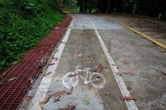 улица путя palanga велосипеда basanaviciaus Символ велосипеда на улице Стоковые Фото