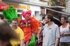 Улица равенства hamburg дня 6-ое августа Христофора голубая стоковое изображение