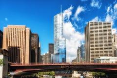 Улица Рекы Чикаго Колумбуса Стоковое Изображение RF