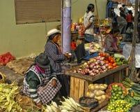улица рынка эквадора Стоковое Фото
