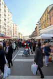 улица рынка Стоковые Изображения RF