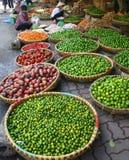 улица рынка hanoi Стоковые Фотографии RF