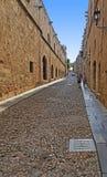 Улица рыцаря Родоса стоковая фотография rf