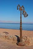 улица светильника пляжа старая Стоковая Фотография RF