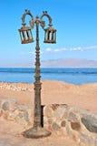 улица светильника пляжа старая Стоковое Изображение RF