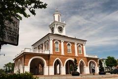Улица сена центра города Fayetteville Северной Каролины городская стоковая фотография