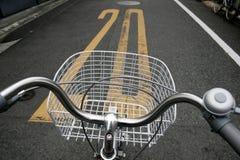 улица скорости предела велосипеда японская Стоковое Изображение