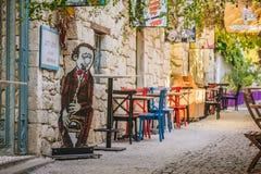 Улица снятая в Alacati, Турции стоковая фотография