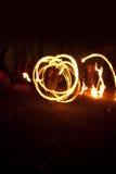 улица совершителей пожара танцы Стоковое фото RF