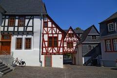 Улица старого исторического городка Diez, Германии стоковые фото