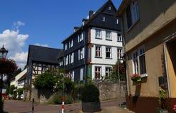 Улица старого исторического городка Diez, Германии стоковые изображения rf