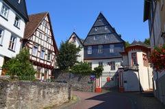 Улица старого исторического городка Diez, Германии стоковая фотография