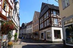 Улица старого исторического городка Diez, Германии стоковое фото