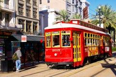 улица стопа New Orleans автомобиля канала Стоковые Изображения