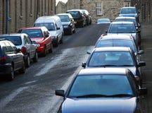 улица стоянкы автомобилей Стоковое Фото