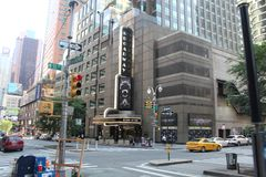 Улица Таймс-сквер на Нью-Йорке стоковые изображения rf