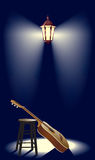 улица фонарика гитары Стоковое Фото