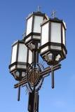 улица фонарика церков Стоковая Фотография