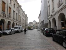 Улица французского города в историческом и культурном центре Стоковые Фото
