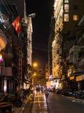 Улица Ханоя на ноче стоковое фото