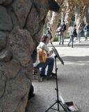 Улица художника в guell парка Стоковая Фотография RF