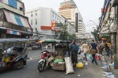 Улица Чайна-тауна в Бангкоке стоковые фото