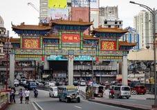Улица Чайна-тауна в Маниле, Филиппинах стоковые изображения rf