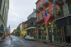 Улица Шартр в французском квартале, Новом Орлеане стоковое изображение rf