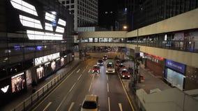 Улица шины двойной палуба Гонконга сток-видео