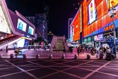 Улица 10 Шэньчжэня Huaqiang северная коммерчески стоковая фотография