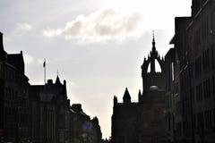 Улица Эдинбурга - королевская миля Стоковое Изображение RF