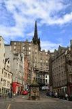 Улица Эдинбурга - Grassmarket Стоковые Изображения