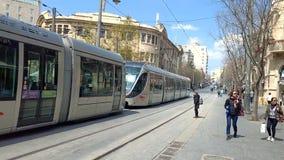 Улица Яффы - Иерусалим - Священный город сток-видео