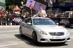 улица 2011 скорости выставки быка f1 Малайзии красная Стоковые Изображения