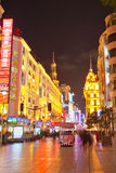 улица 4 nanjing пешеходная shanghai Стоковое фото RF
