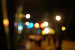 Улица Bokeh города ночи освещает предпосылку Стоковая Фотография