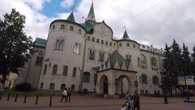 Улица Bolshaya Pokrovskaya в Nizhny Novgood сток-видео