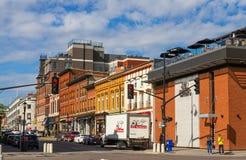 Улица Brock в Кингстоне, Онтарио стоковые изображения rf