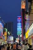 улица chunxi Стоковая Фотография