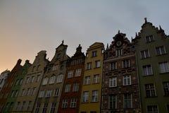 Улица Dluga, Гданьск Стоковое Фото