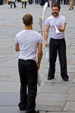 улица jugglers Стоковое Изображение RF