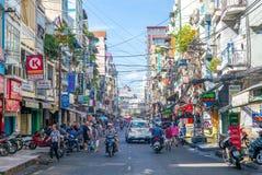 Улица Lao Pham Ngu в Вьетнаме стоковое изображение rf