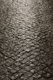 улица lisbon Португалии булыжника Стоковые Фото