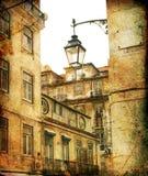 улица lisbon Португалии Стоковое Фото