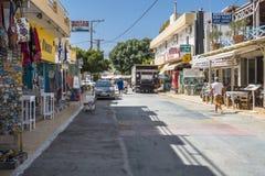 Улица Matala Стоковое Изображение